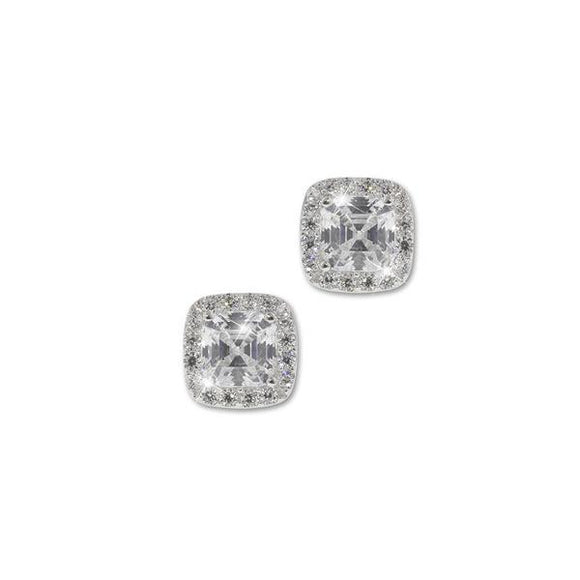 Cushion Cut Pavé Earrings