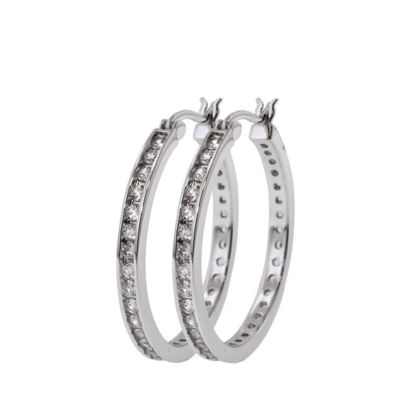 30mm Classic Set Round Hoop Earrings