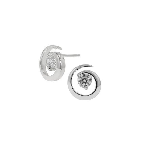Solitaire Swirl Earrings