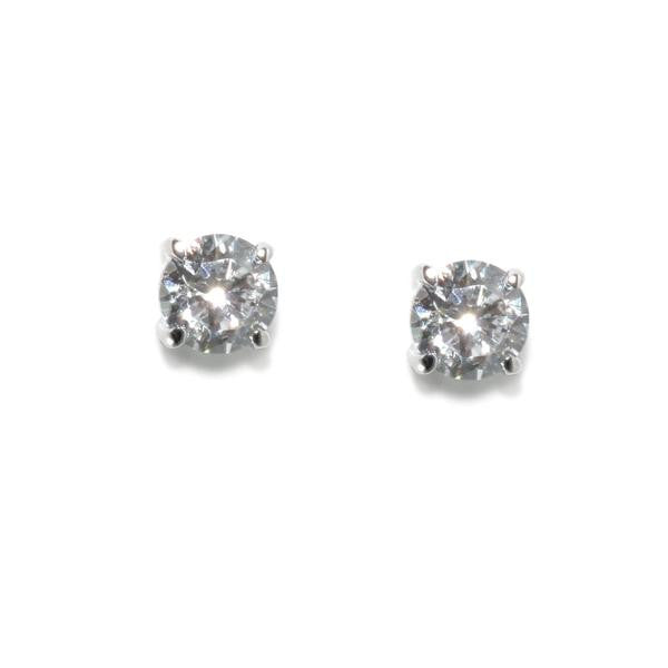 1ct Round Stud Earrings