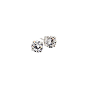 1.7ct Sterling Silver Round Stud Earrings