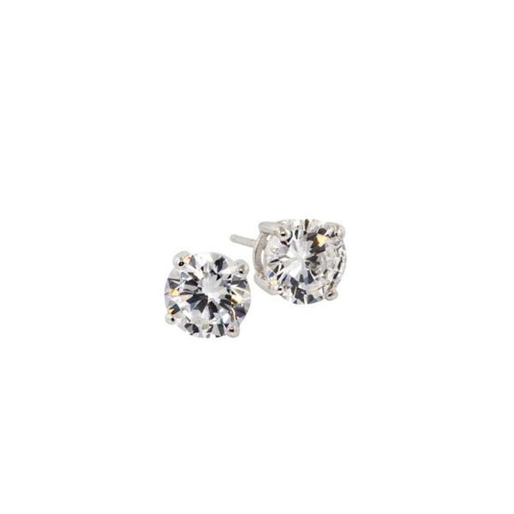 2.6ct Sterling Silver Round Stud Earrings