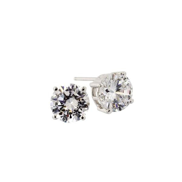 4ct Round Stud Earrings