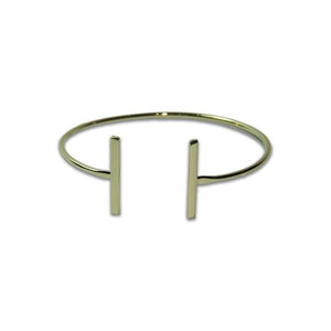 Gold Open Bars Bangle Bracelet