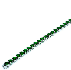 Emerald Heart Cut Tennis Bracelet