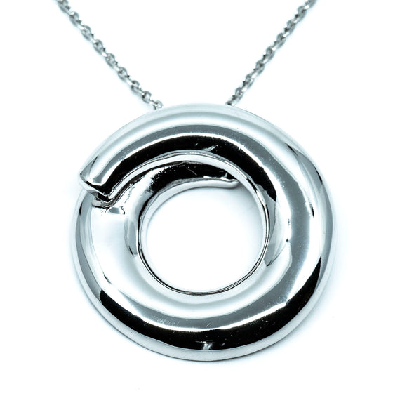 Sterling Endless Circle Necklace