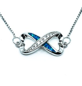 Opal Infinity Heart Necklace