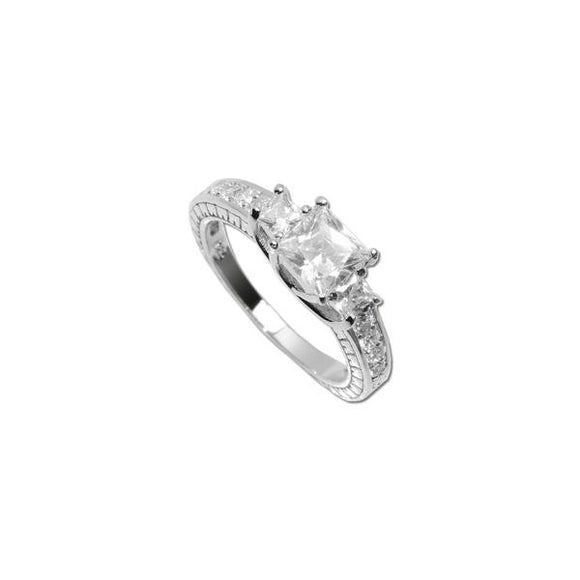 Asscher Cut Magesty Ring