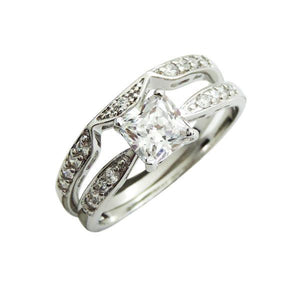Intricate Princess Engagement Ring Set