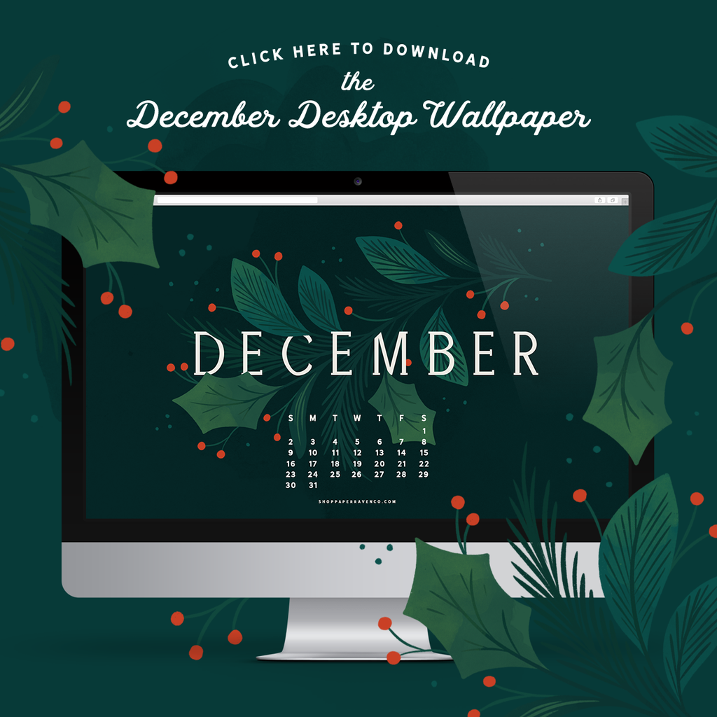 December 2018 Illustrated Desktop Wallpaper
