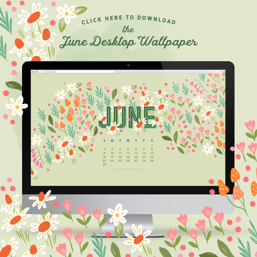 June 2019 Illustrated Desktop Wallpaper