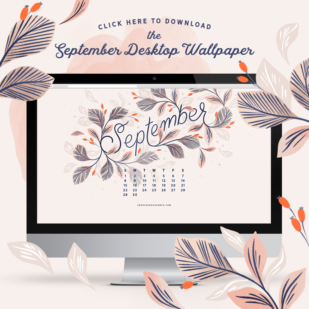 September 2019 Illustrated Desktop Wallpaper