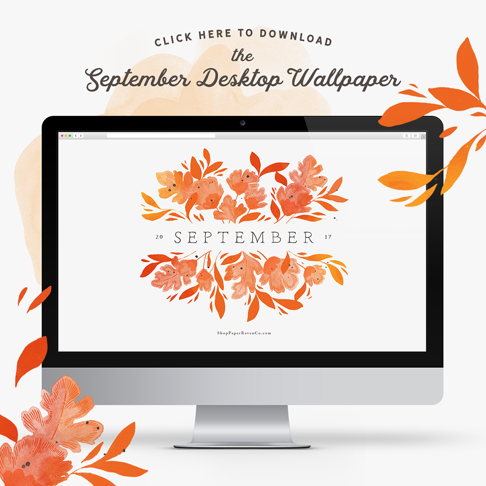 September Illustrated Desktop Wallpaper