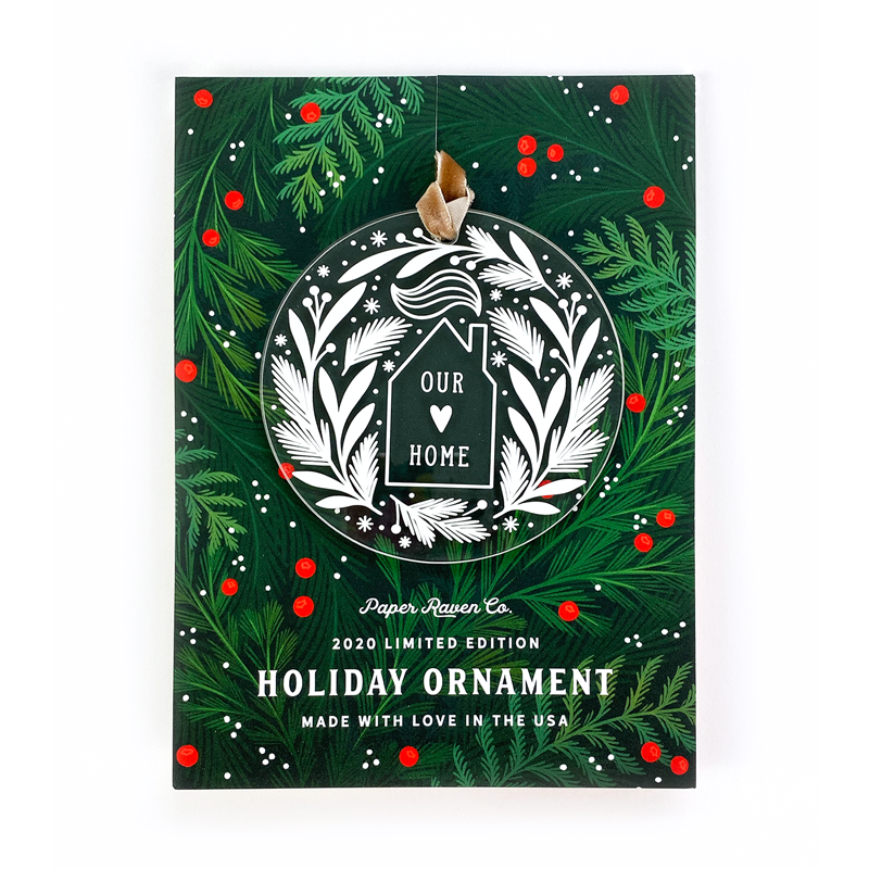 Limited Edition Acrylic Ornament: Home for the Holidays