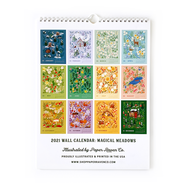 IMPERFECT SALE: 2021 Calendar: Magical Meadows