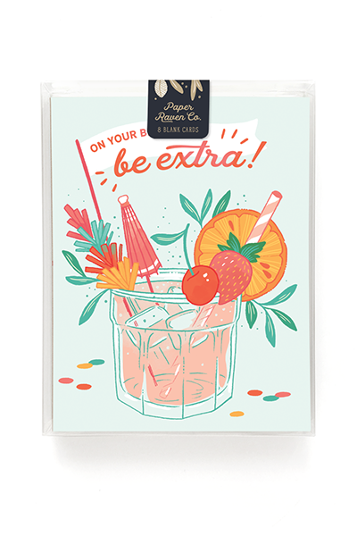 Birthday Cocktail Card - Box of 8