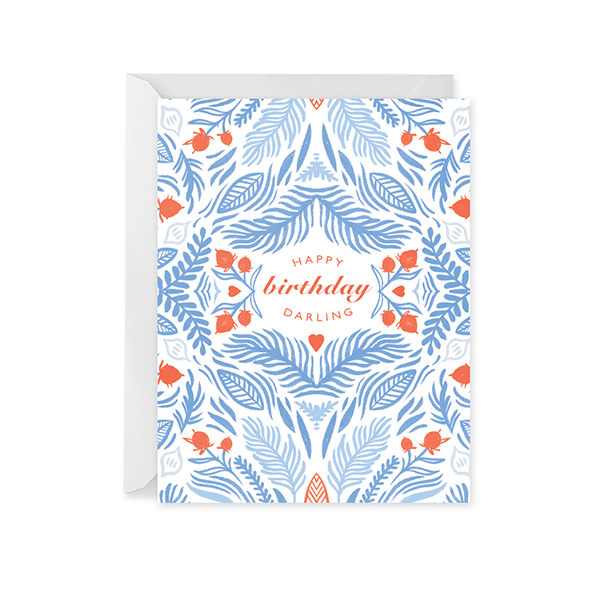 Happy Birthday Darling - Card for Her