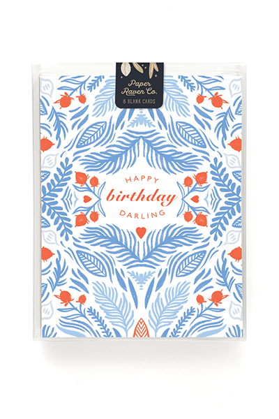 Happy Birthday Darling - Card for Her - Box Set of 8 1