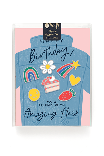Birthday Flair Card - Box of 8