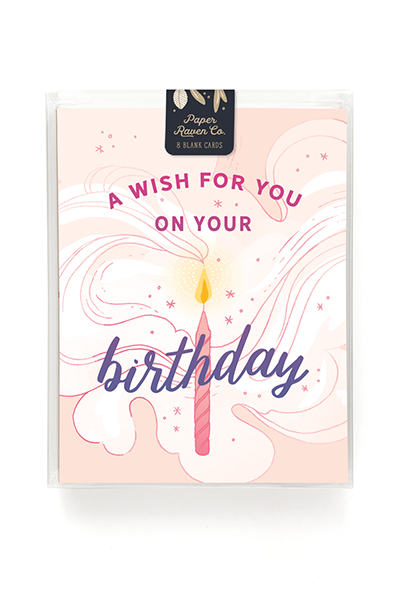Birthday Wishes Card - Box of 8