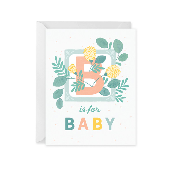 B is for Baby Card