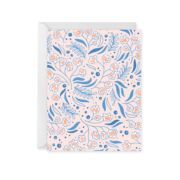Blue Bell Patterned Card