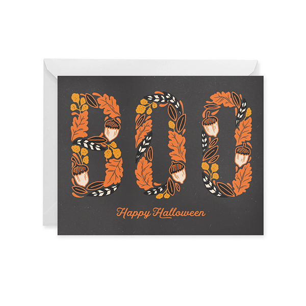 Boo! Happy Halloween Card