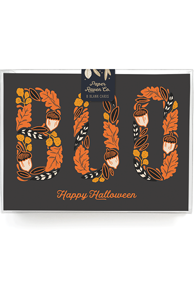Boo! Happy Halloween Card - Box Set of 8