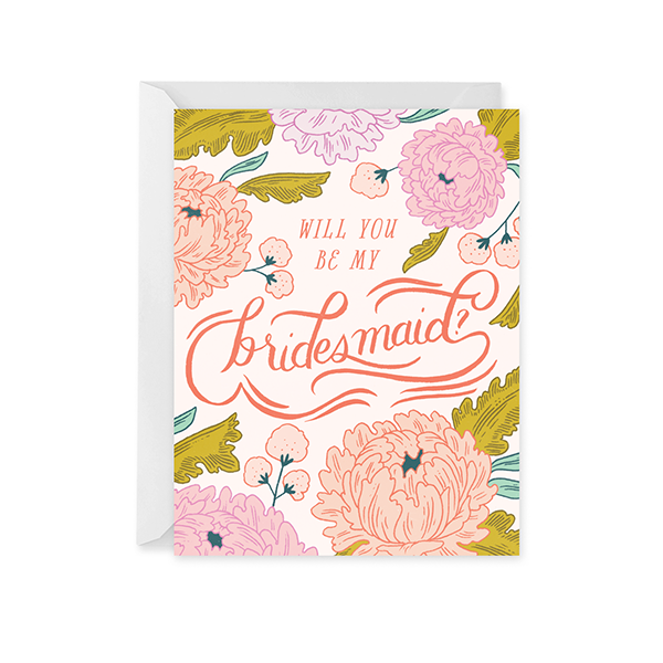 Bridesmaid Blossom Card