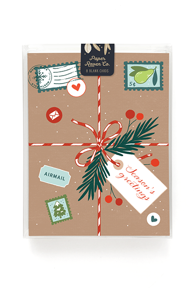 Brown Paper Packages Holiday Card - Box Set of 8