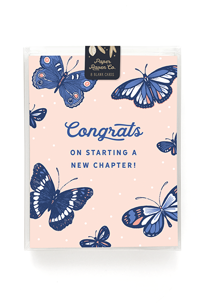Blooming Butterfly Card - Box Set of 8