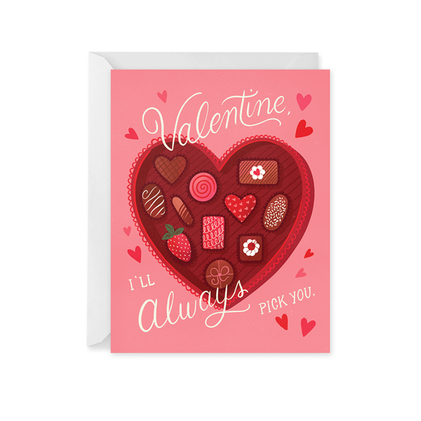 Valentine Chocolate Box Card