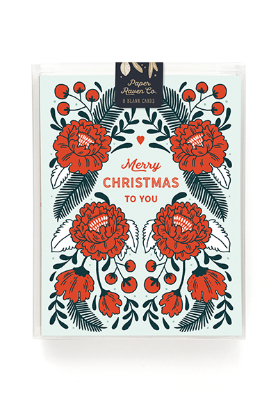 Christmas Rose Holiday Card