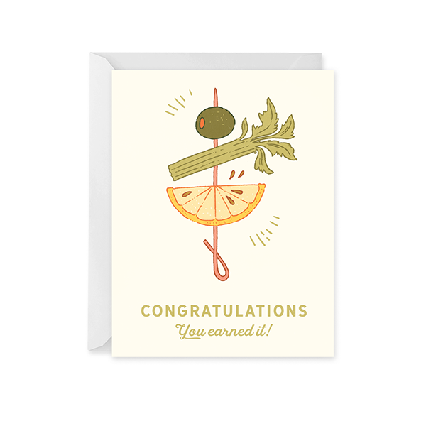 Cocktail Congrats Card