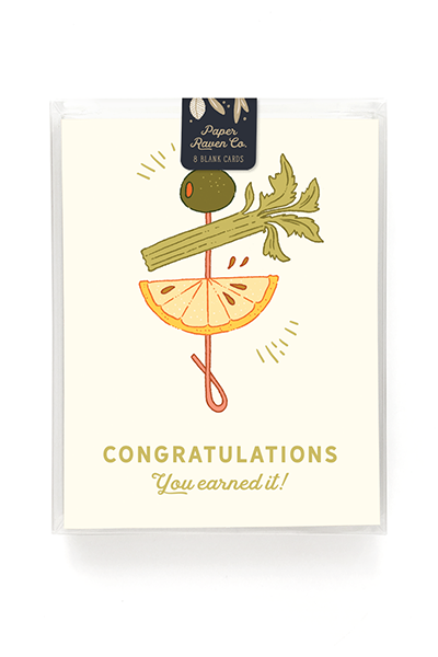 Cocktail Congrats Card - Box Set of 8