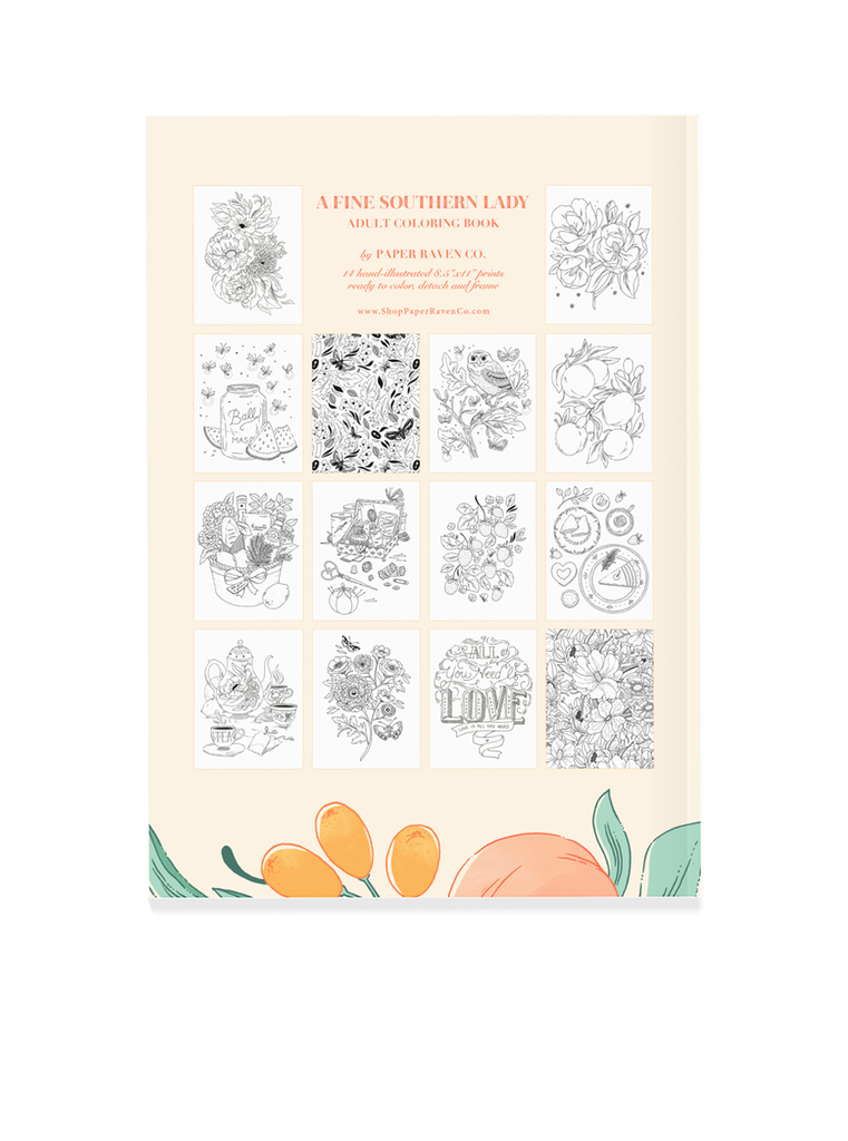 ON SALE: A Fine Southern Lady Adult Coloring Book