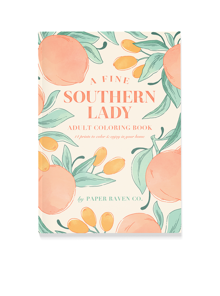 A Fine Southern Lady Adult Coloring Book