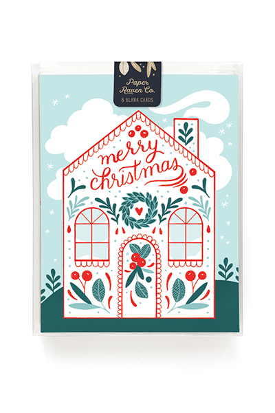Christmas Cottage Holiday Card