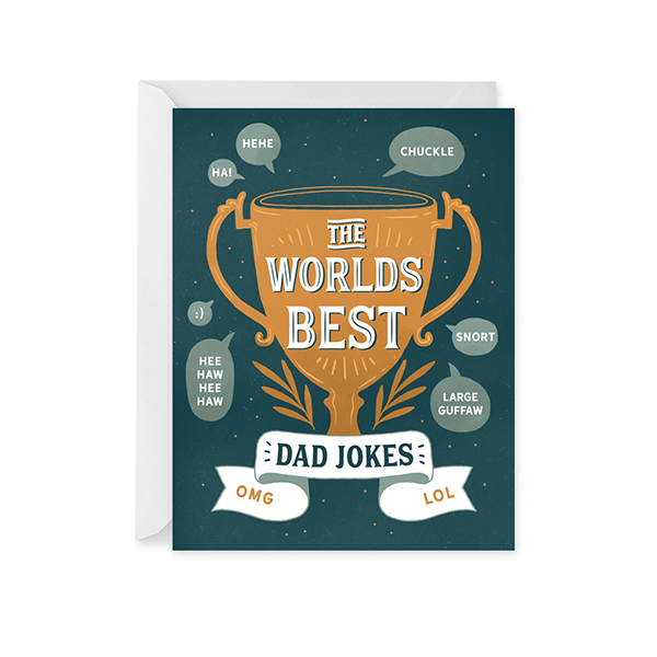 Dad Joke Trophy Card