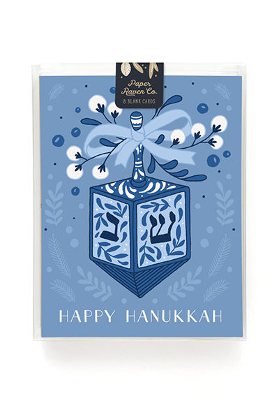 Festive Dreidel Hanukkah Card - Box Set of 8