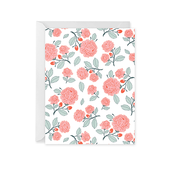 English Rose Garden Patterned Card