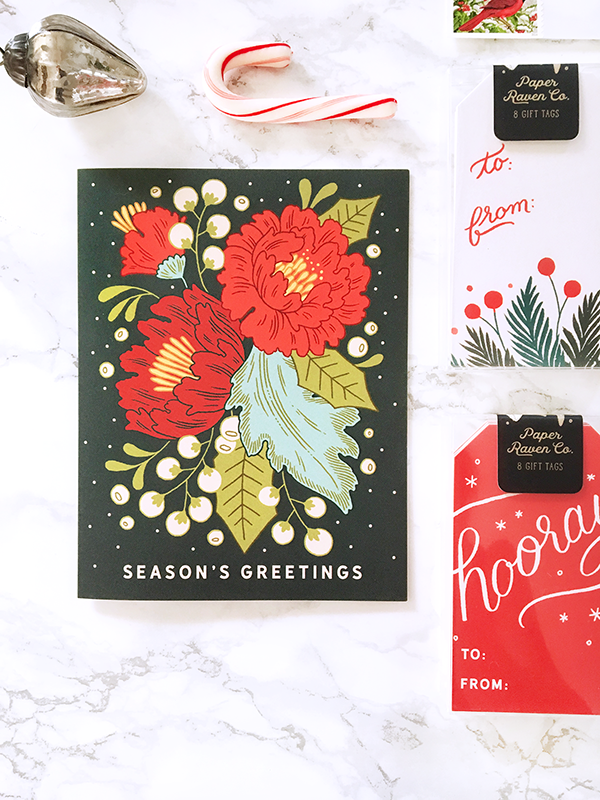 Festive Florals Holiday Card