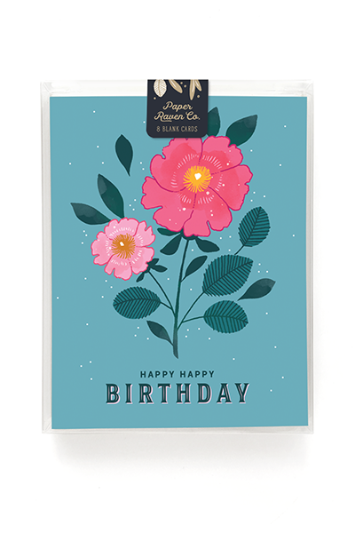 Floral Birthday Card - Box Set of 8