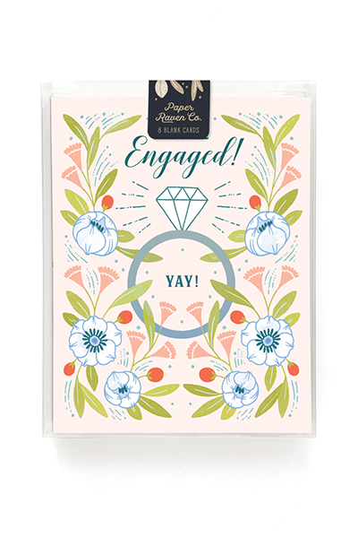 Garden Engagement Card - Box Set of 8