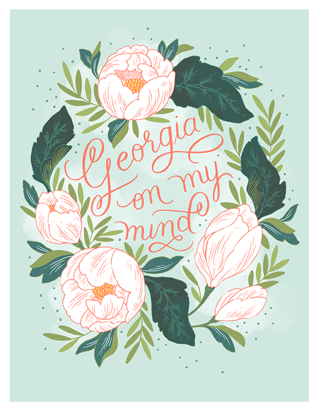 Georgia On My Mind Fine Art Print