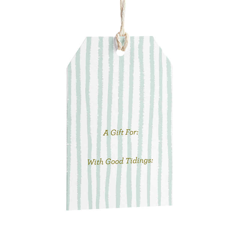 Minted Stripe Holiday Gift Tags - Set of 8