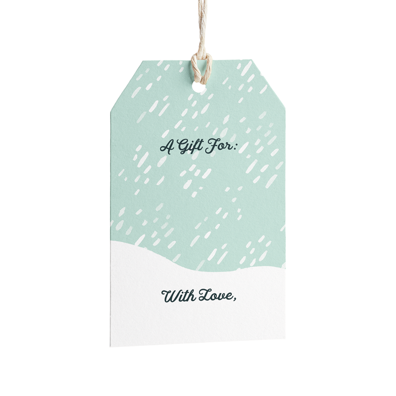 Snowstorm Holiday Gift Tags - Set of 8