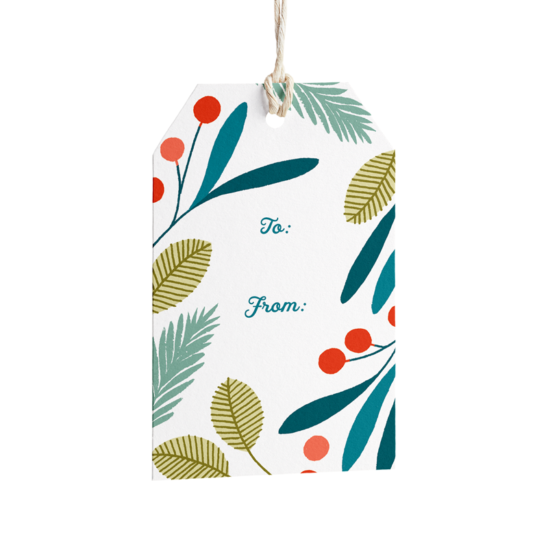 Holiday Wreath Gift Tags - Set of 8