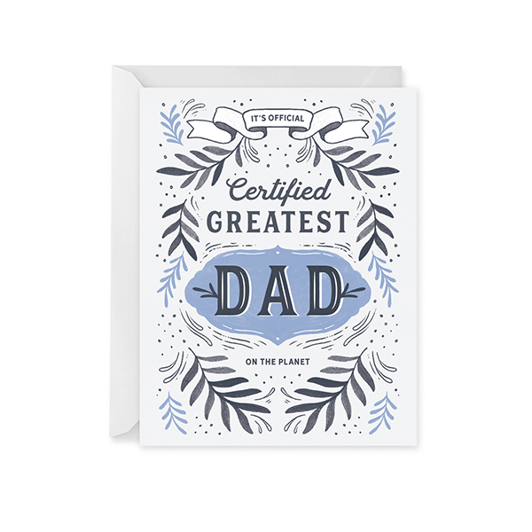 Greatest Dad Award Card