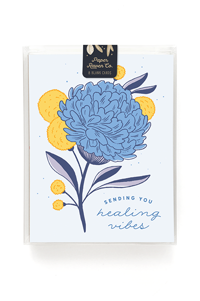 Healing Vibes Hydrangea Card - Box Set of 8